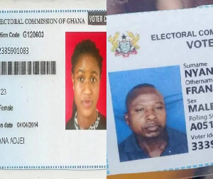 An image of the old and new voters card