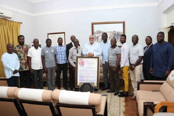 Ghana Deaf Football Association when they met former President Rawlings in 2019