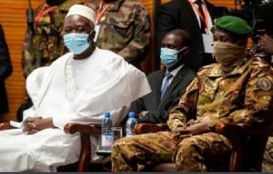 Malian president Bah Ndaw with military deputy Assimi Goita