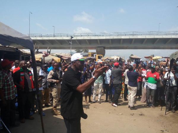 Vice President, Paa Kwesi Amissah-Arthur campaigns in Awutu Senya East Constituency.