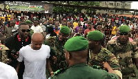 Andre Ayew mobbed by thousands