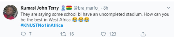 'KNUST lecturers don't kiss violently' – Proud students troll UG after ranking success 4