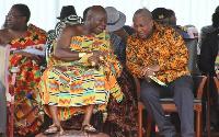 Asantehene, Otumfuo Osei-Tutu II and Former President Mahama