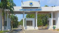 The entrance of the cape coast technical university