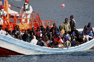 A Ship Carrying A Group Of Migrants1