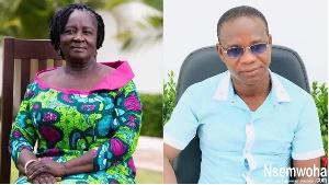 Prof. Jane Naana Opoku-Agyemang (L) and  Mallam Sham-una (R)