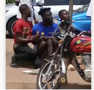 The suspects arrested by police