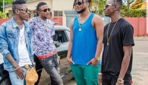 Shatta Wale with his militants