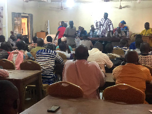 Chairman Samba addressing some constituents