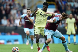 Partey in action for Arsenal over the weekend