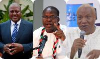 Former President John Dramani Mahama, Alban Bagbin and Prof. Joshua Alabi