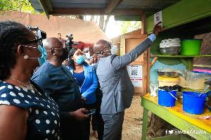 Vice President, Dr Mahamudu Bawumia used the technology in Accra on Thursday, November 19