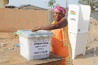 File Photo : Ghana went to the polls today to elect a new President