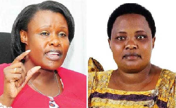 L - R: Uganda VP Jessica Alupo and PM Robinah Nabbanja