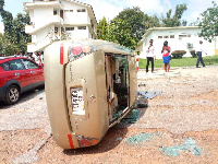 Students of KNUST vandalized school properties as the protest against inhumane treatment