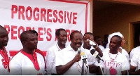 Papa Kwesi Nduom  Progressive People's Party (PPP) flag bearer addresses supporters.   File photo.