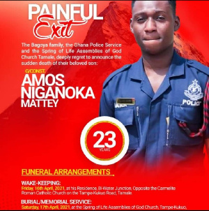 Amos Mattey will be buried on Saturday