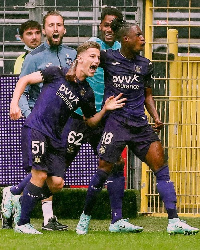 Majeed Ashimeru was in action for Anderlecht