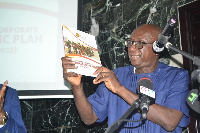 Interior Minister Ambrose Dery launching the plan