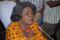 The Minister of Airport and Aviation Cecilia Abena Dapaah