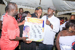 Dr S.K Nuamah being presented the citation