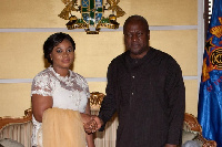 Charlotte Osei and President  Mahama