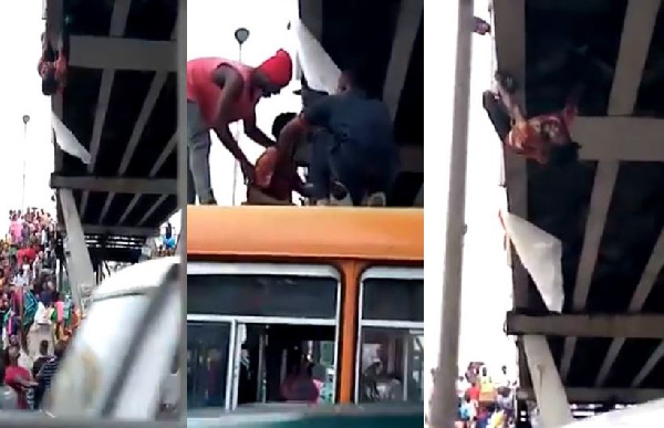 Man attempts suicide on Kaneshie Market overpass