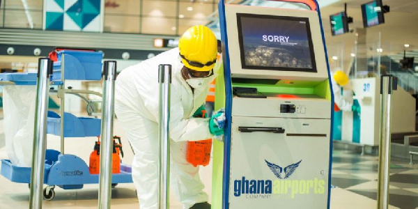 Massive disinfection exercise carried out at Kotoka International Airport