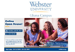 Interested persons may register for either event at https://events.webster.edu/group/ghana