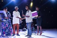 Bright Tetteh Ackwerh recieving his award