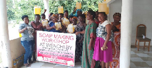 Some single mothers who participated in the programme