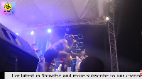 Rapper Kofi Mole during his performance at Tidal Rave