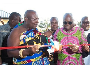 Akufo-Addo with the Aflao Paramount Chief Torgui Amenya Fiti V at opening of a project