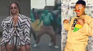 Dancegod Lloyd was featured with his crew in the music video