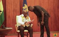 President Akufo-Addo and his Communications Director, Eugene Arhin