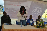 Mabel Nana Nyarkoa Porbley, the Managing Director of NSIA Insurance speaking at the opening ceremony