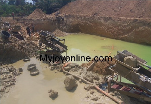 The campaign against galamsey is still ongoing