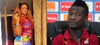 Asamoah Gyan and Nina