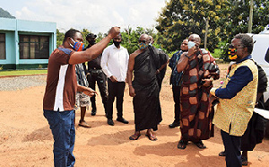 Soldier Raid The DCE Mr Apau Trying To Explain Appoint To The Chiefs Who Were About Departing From T