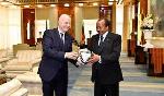 Cameroonian President Paul Biya and FIFA president Gianni Infantino