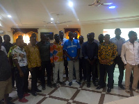 Tarkwa-Nsuaem MCE, Gilbert Ken Asmah with participants of Center for Environmental Impact