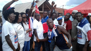 Daniel Mensah with some members of the New Patriotic Party