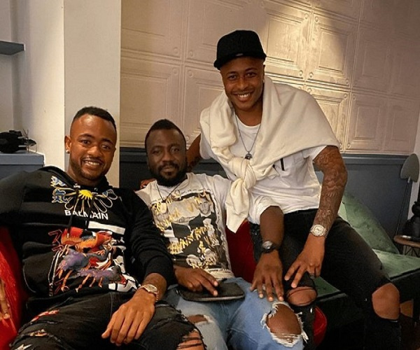 The Ayew brothers went out to party