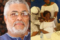 Former President, Jerry John Rawlings and his mother  Victoria Agbotui