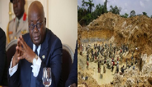 President AKuffo-Addo has vowed to fight galamsey