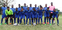 The Bechem United team ahead of the game