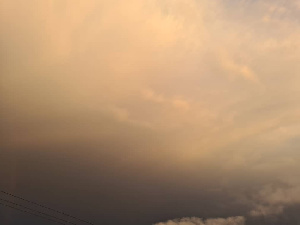 Some parts of Accra experienced a change in colour of the clouds