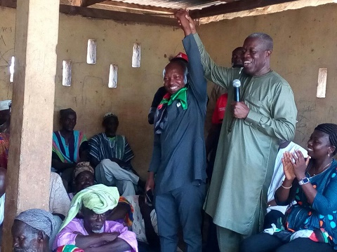 Vice President Kwesi Amissah-Arthur on a campaign tour in the Northern Region