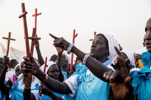 South Sudan Catholics return to church after five months
