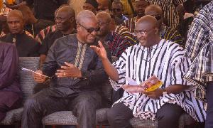 John Mahama and Dr Mahamudu Bawumia
